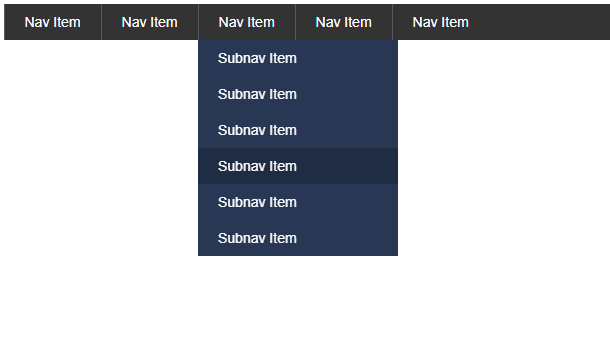 pure-css3-dropdown-menu